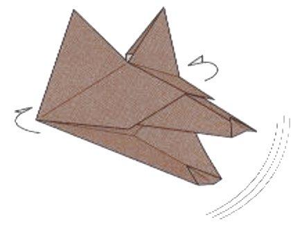 Talking Head Wolf Catapult Origami