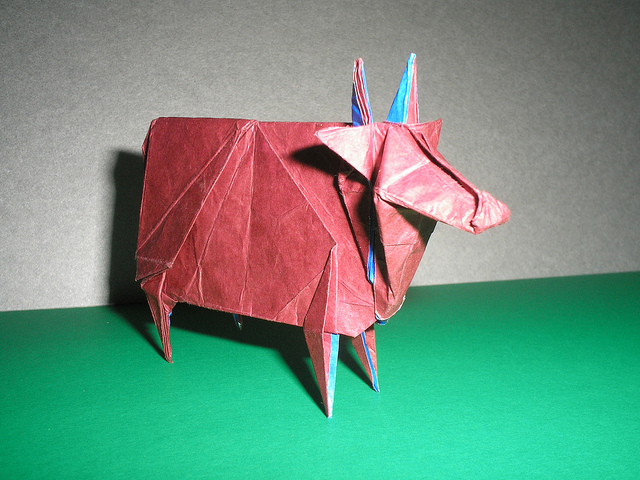 Three Headed Crane Cow Origami
