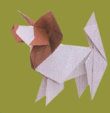 Origami Devil Mask Dog