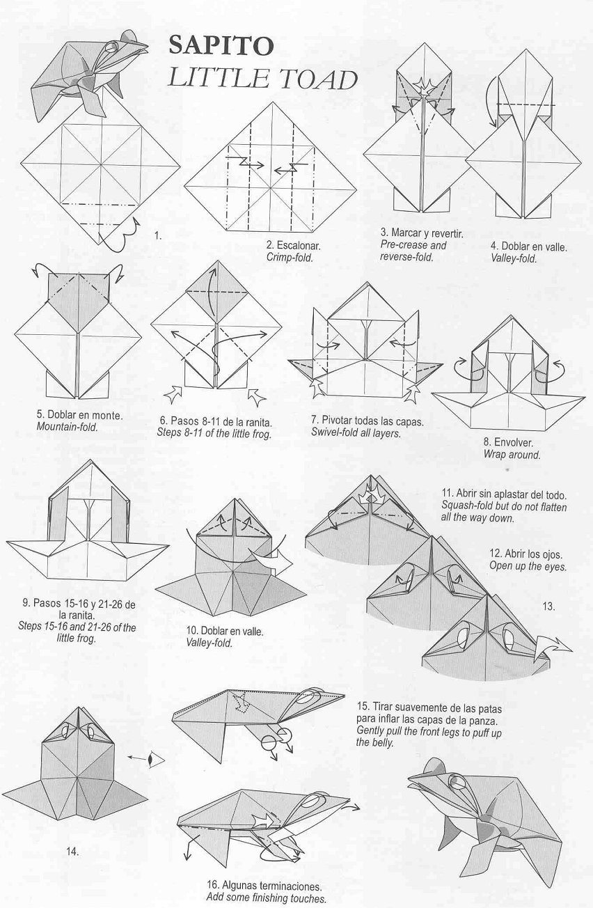 origami tiger diagrams complex