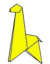Giraffe origami-style - photo#44