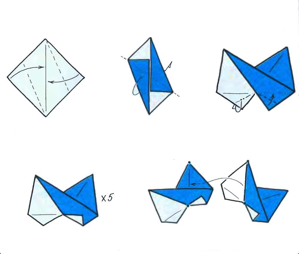 Origami star, of the modules - OrigamiArt.Us on