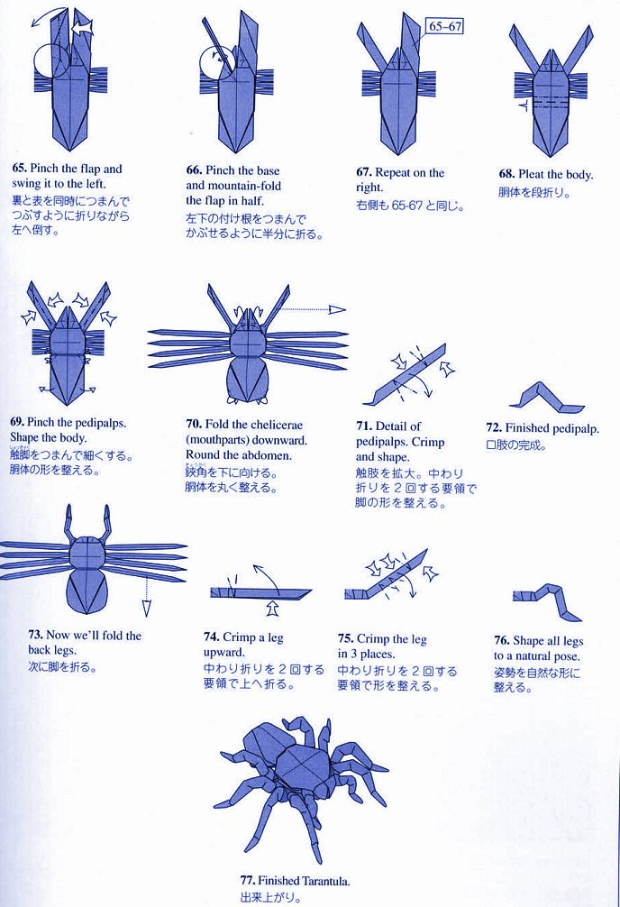 Origami Scorpion by Robert J. Lang (TUTORIAL) Base - YouTube ... | 1006x688