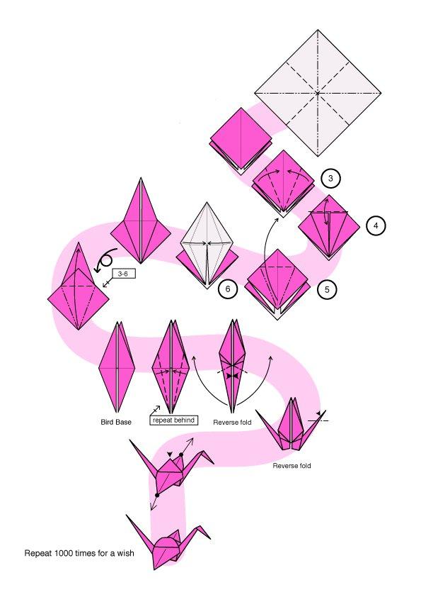 Как легко сделать оригами журавлик