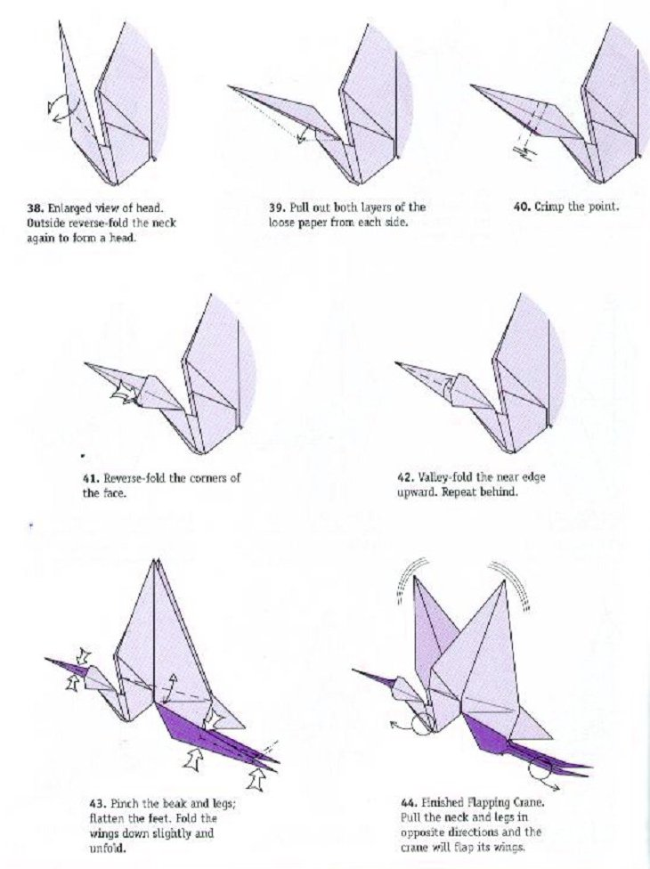Crane Origami (difficult Model) - OrigamiArt.Us