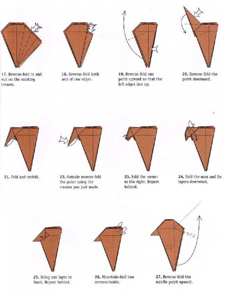 Flapping Bird: Animated Origami Instructions: How to make Origami | 980x750