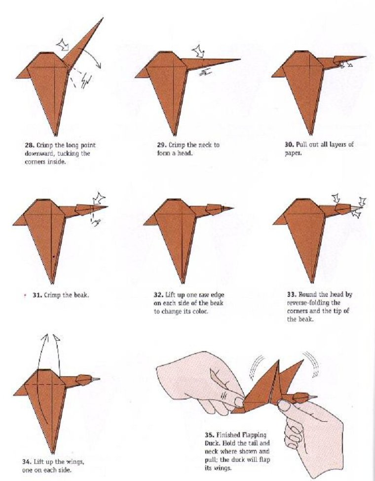 Duck Flapping Wings - OrigamiArt.Us