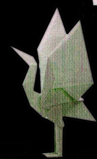 Standing Crane Origami - OrigamiArt.Us