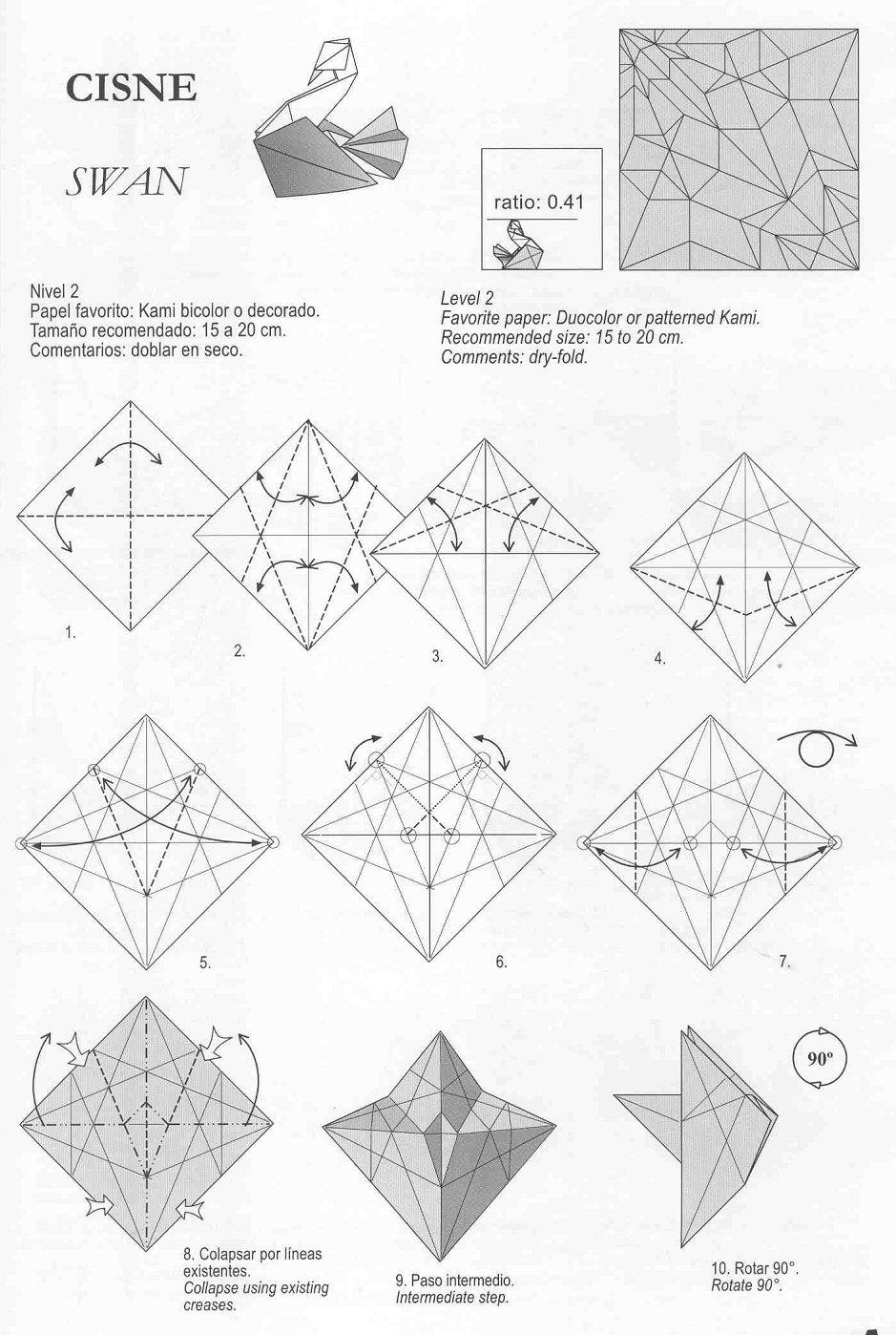 Swan Origami By Roman Diaz