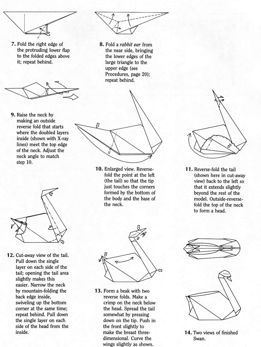 swan robert j lang rh origami art us origami crane diagram pdf origami swan hoang tien quyet diagram