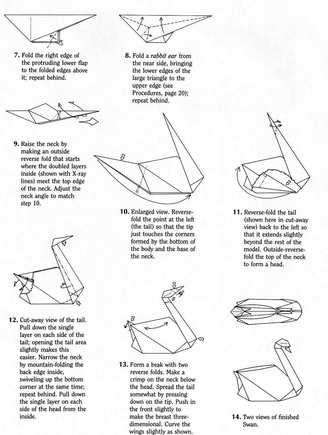 How to origami a swan - How To Origami A Swan 9
