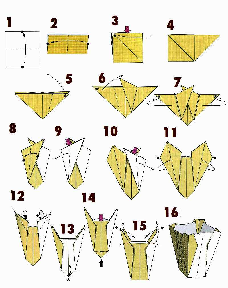 Origami Flower Vase Videos