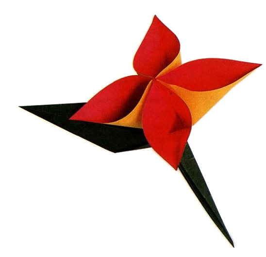 Origami Rose (RED)   Origami Fingers on Madeit   531x548