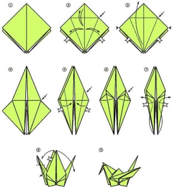 Origami Crane | Origami cisne, Instrucciones de origami, Pajaros ... | 631x580