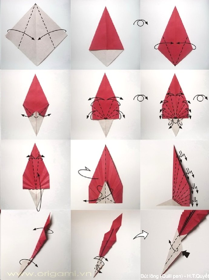 basic flower diagram feather origami origamiart us  feather origami origamiart us