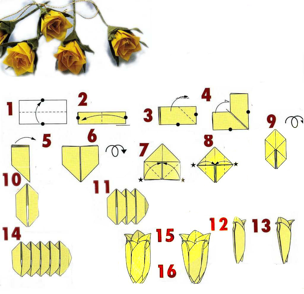 Origami Roses Diagrams Online Schematic Diagram
