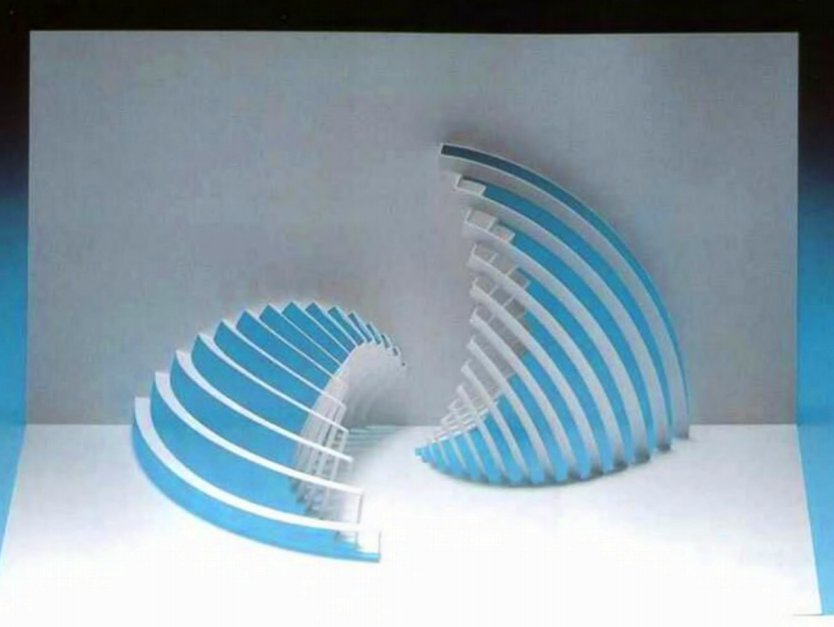 Kirigami Wave And Sail Diagram