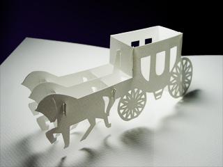 Wedding Carriage Kirigami