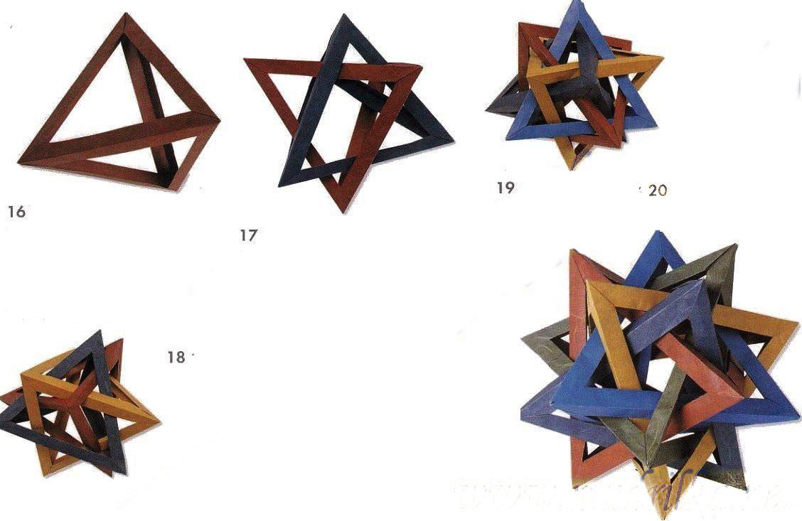 origami tetrahedron instructions tutorial origami handmade