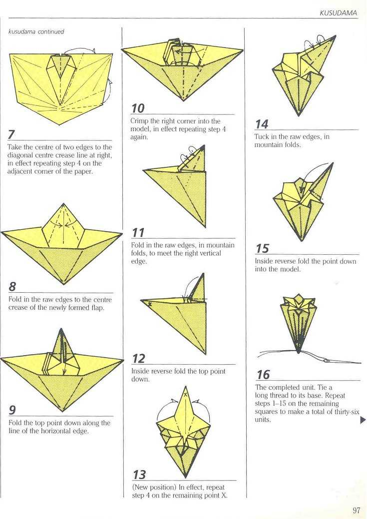 Traditional Japanese Kusudama 1 2 3 Video Origami Diagram