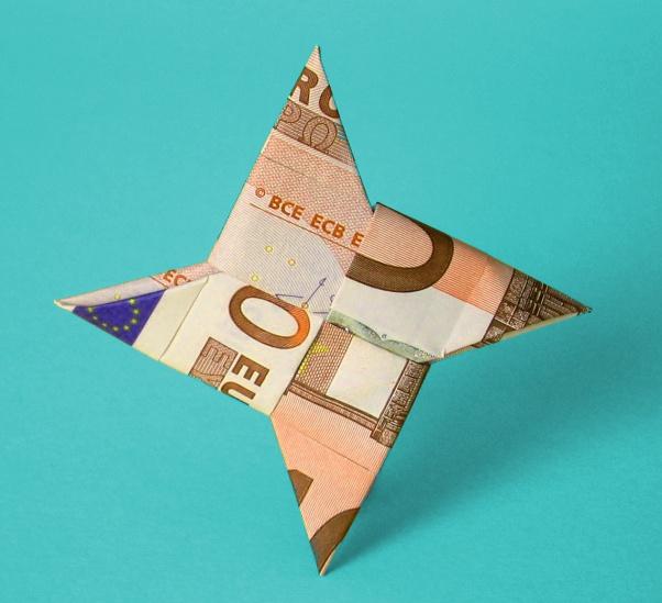 Origami Ninja Star/3-point Star 折纸忍者三角星 - YouTube - Origami ... | 549x602