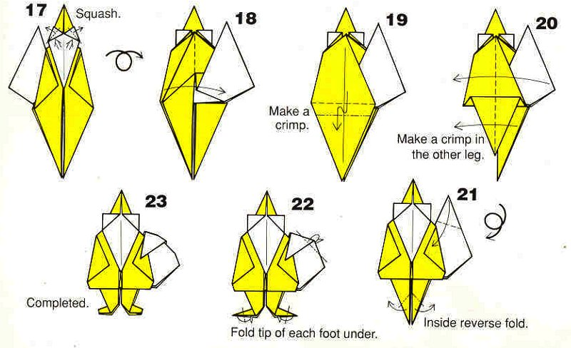 Diagram Of Origami Grandfather Frost The End