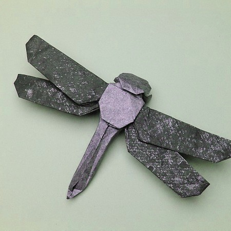 origami dragonfly | Origami, Origami instructions, Dragonfly | 450x450