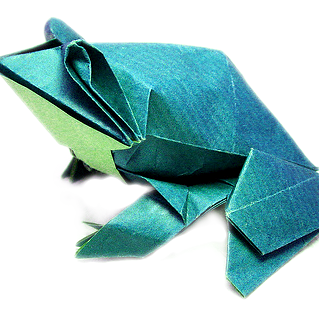 Pre-Columbian Style Origami Frog by Leyla Torres | Go Origami | 319x319