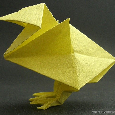 TUTORIAL - 3D Origami Rooster - YouTube | 480x480