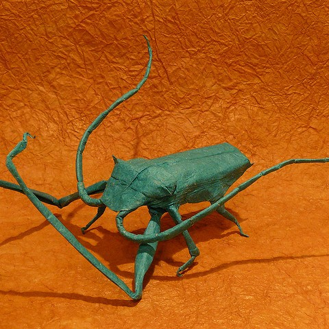 Origami Atlas Beetle (Riccardo Foschi) | I designed this ori… | Flickr | 480x480