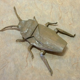 How to Origami a rhinoceros beetle « Origami :: WonderHowTo | 336x336